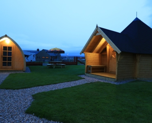 Halladale Inn has campsite and Glamping Pods - Time for bed!