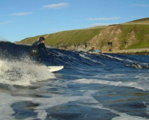 Surfing at Melvich beach - short walk from Halladale Inn